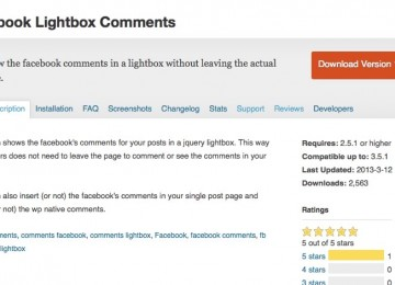 Facebook Lightbox Comments